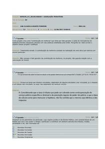 AV Legislação tributaria