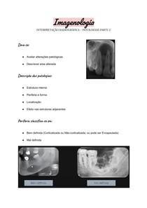 Imagenologia - Interpretação radiográfica - Patologias parte 2