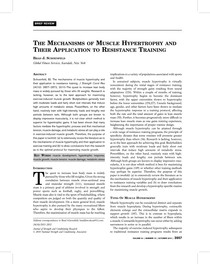 mechanisms of muscle hypertrophy