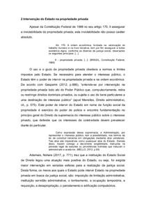 Intervenção do Estado na propriedade e limitação administrativa