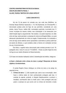 Caso Concreto 6 - Direito Penal 1