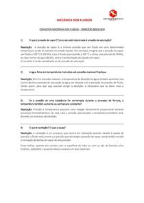 CONCEITOS MECÂNICA DOS FLUIDOS