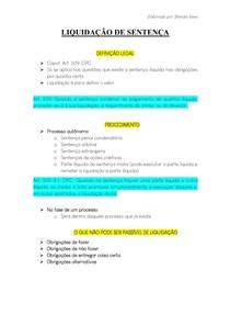 LIQUIDAÇÃO DE SENTENÇA - Processo Civil