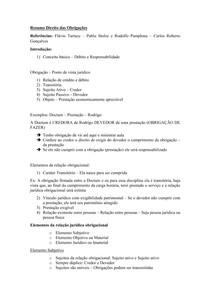 Material de Apoio 01 - Teoria Geral das Obrigações