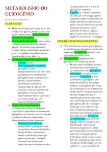 METABOLISMO DO GLICOGÊNIO