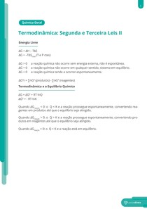 Termodinâmica: segunda e terceira leis  - Resumo