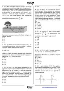 MATEMÁTICA PASSO A PASSO - FUNÇÕES QUADRÁTICAS (Exercícios)