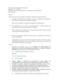 AD1 Sistemas e Informação e Comunicação no Setor Público