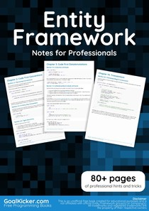 Entity Framework Notes For Professionals - C - Sharp - 14