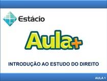 1_AULA +_INTRODUÇÃO AO ESTUDO DO DIREITO