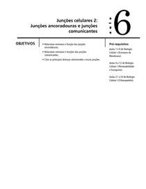 Aula 06 - Junções celulares - Junções ancoradouras e junções comunicantes