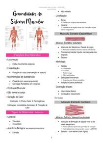 Generalidades do Sistema Muscular