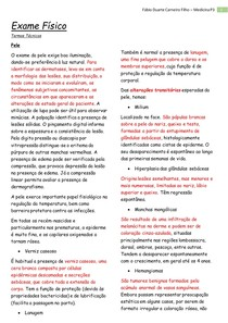 Exame Físico Pediátrico - Pele e Linfonodos