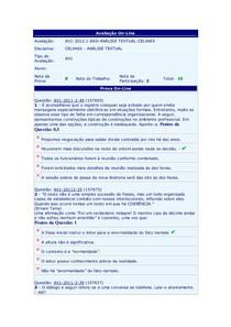 Prova AV1 - Análise Textual