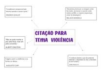 CITAÇÃO PARA TEMA VIOLÊNCIA