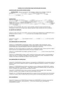 Modelo De Contrato De Patrocínio Para Participação Em Evento