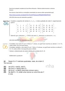 Matrizes determinantes e sistemas lineares