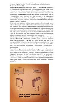 Português_ Explicações sobre Tipos de Leitura, Formas de Conhecimento e Processos de Comunicação