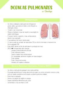 Doenças Pulmonares e conduta odontológica