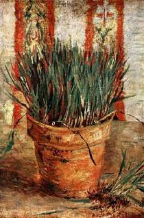 Vincent Willem van Gogh - Vaso com Chives