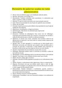 Dicionário de palavras usadas no ramo administrativo 1