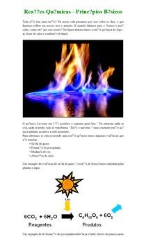 Reações Químicas - Princípios Básicos
