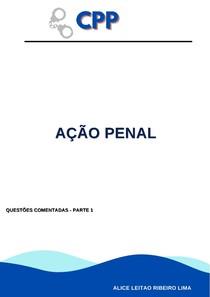 AÇÃO PENAL- QUESTÕES COMENTADAS- PARTE 1