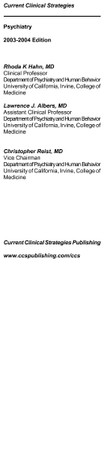 Current Clinical Strategies   Psychiatry