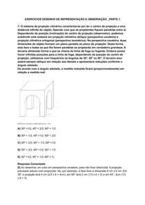 EXERCÍCIOS DESENHO DE REPRESENTAÇÃO E OBSERVAÇÃO _PARTE 1
