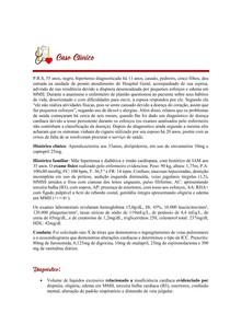 Caso Clínico - IC - Diagnóstico de Enfermagem