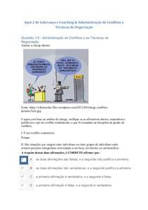 Apol 2 de Liderança e Coaching & Administração de Conflitos e Técnicas de Negociações