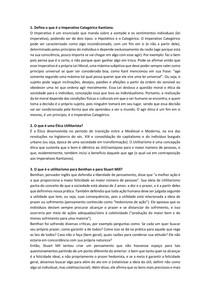 Avaliação - Imperativo categórico de Kant e a ética utilitarista