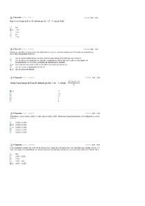 Provas de Cálculo Numérico