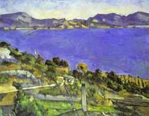 Paul Paul Cézanne - The sea with lEstaque