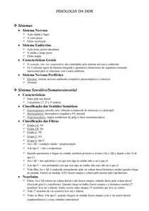Fisiologia   Dor