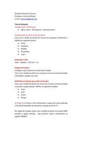 Desenho Técnico Aulas Revisão AV1 e AV2