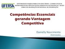 3 Competências essenciais gerando Vantagem Competitiva