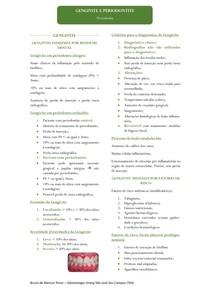 Resumo - Gengivite e Periodontite