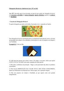 Material de Apoio 10 - Obrigações Subjetivamente Compostas [Obrigações Divisíveis e Indivisíveis]