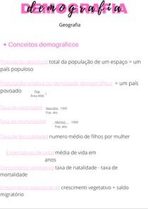 demografia geografia