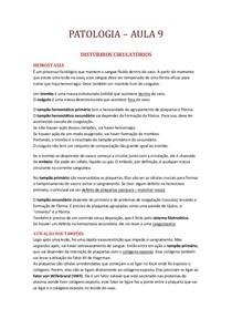PATOLOGIA DISTÚRBIOS CIRULATÓRIOS II