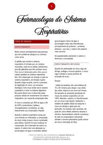 Farmacologia do Sistema Respiratório - 01/2021 - Prof. Filiphe