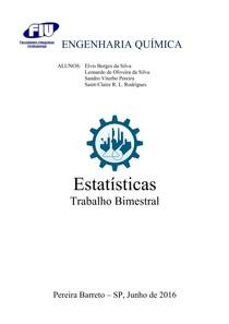 Trabalho de Estatísticas   2º bimestre