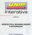 Slide Geopolítica, Regionalização e Integração 3