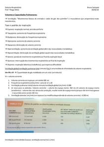 Volumes e Capacidades Pulmonares
