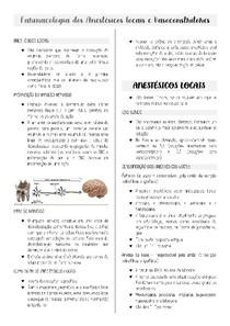 Farmacologia dos Anestésicos locais e Vasoconstritores