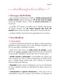 DIREITOS FUNDAMENTAIS - Teoria geral e Direitos INDIVIDUAIS