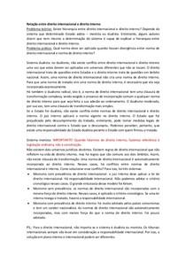 Relação entre direito internacional e direito interno(Aula Otavio)