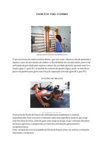 Exercícios para ombro CADEIA CINETICA ABERTA E FECHADA