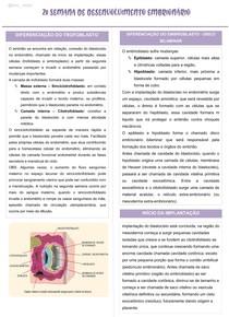 MAPA MENTAL - 2º semana de desenvolvimento embrionário